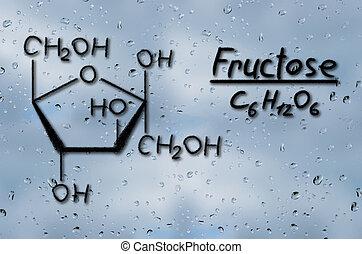 fructosa, modelo, estructural