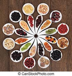 fruits, secado, dechado