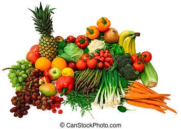 fruits, verduras frescas