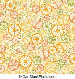 fruta cítrica, patrón, seamless, plano de fondo, rebanadas