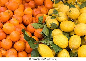 fruta cítrica, siciliano