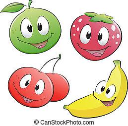 fruta, caricatura