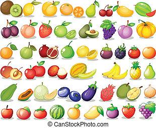 fruta, conjunto