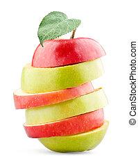 Fruta de manzana mixta