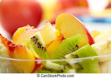 fruta exótica, ensalada