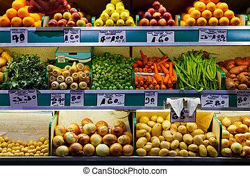 Fruta fresca y verduras
