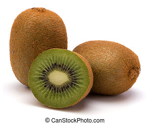 Fruta Kiwi aislada de fondo blanco