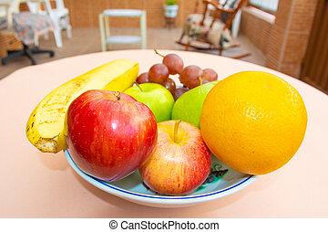 Frutas en un pelotón de cerca