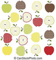 Frutas, manzanas de fondo