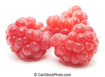 Frutas rojas aisladas