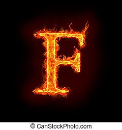 fuego, alfabetos, f