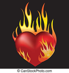 fuego, corazón