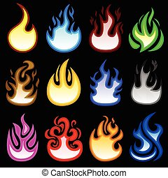 Fuego de fuego quema icono
