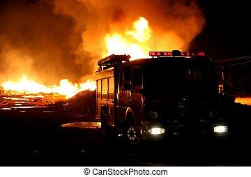 fuego, firetruck
