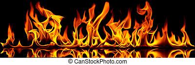fuego, flames.