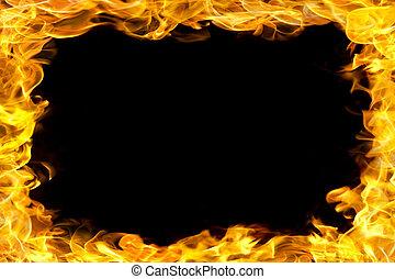 fuego, frontera, llamas