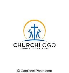 fuego, iglesia, dove., cristiano, cruz, jesús, espíritu, symbols., logo., santo