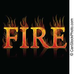 Fuego llamas de fondo de elemento icono