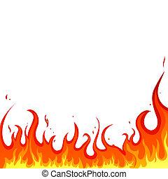 fuego, -, llamas