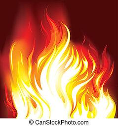 fuego, llamas, plano de fondo