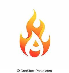 fuego, logotipo, diseño, carta