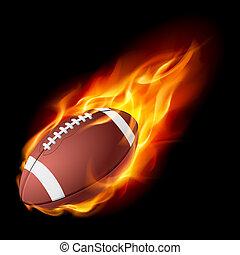 fuego, realista, fútbol americano
