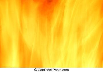 fuego, resumen, fondo amarillo