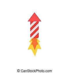 fuegos artificiales, colorido, ilustración, vector, blanco, fondo.