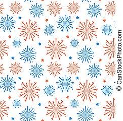 Fuegos artificiales sin costura para el día de la independencia de EE.UU., papel tapiz para las fiestas americanas