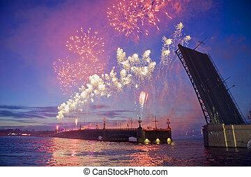 fuegos artificiales, st.-petersburg