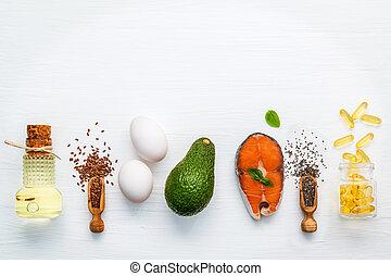 Fuentes de comida de Selección de Omega 3