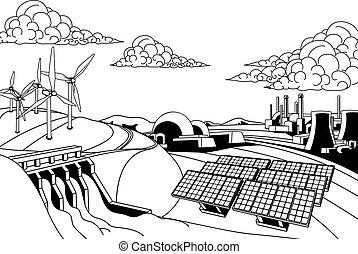 Fuentes de energía generacional