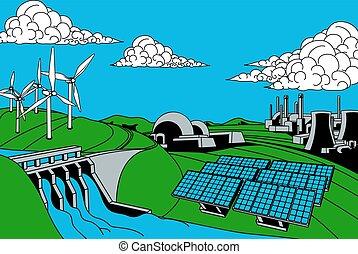 Fuentes de generación de energía