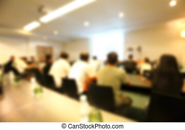 Fuera de foco sala de conferencias borrosa