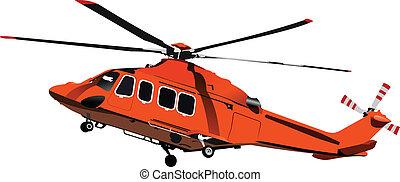 Fuerza Aérea. helicóptero de combate. Vecto