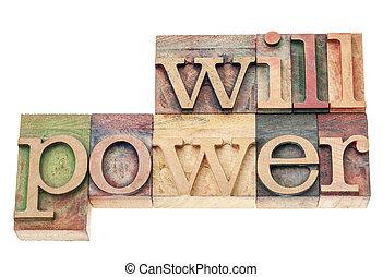 Fuerza de voluntad en madera