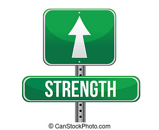 fuerza, diseño, camino, ilustración, señal
