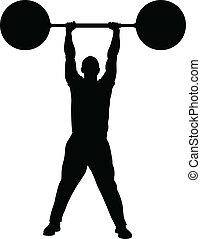 fuerza, levantamiento de pesas