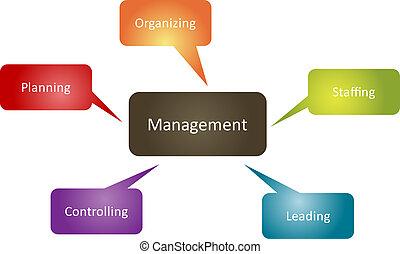 función, diagrama, dirección, empresa / negocio