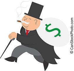 funcionamiento del hombre, dinero