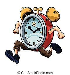 funcionamiento del hombre, reloj