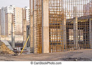 Fundación del edificio construido