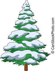 Fur-tree con nieve