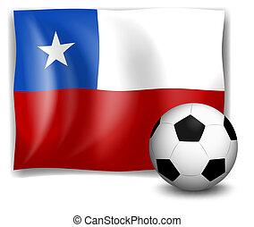 futbol, bandera, pelota, chile