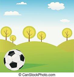 Futbol Vector con antecedentes de primavera