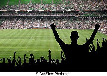 futbol, ventilador, celebración