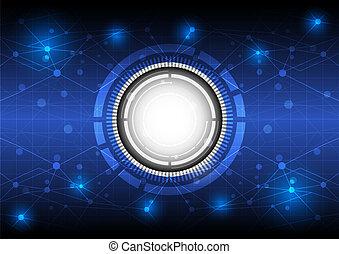 Futura de tecnología de conceptos digitales
