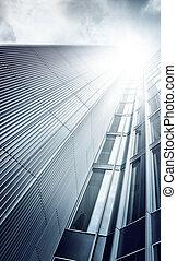 Futurista rascacielos desde abajo
