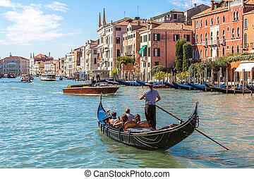 góndola, venecia, grande de canal