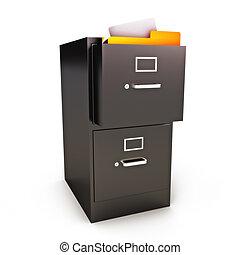 gabinete, archivo, archivos